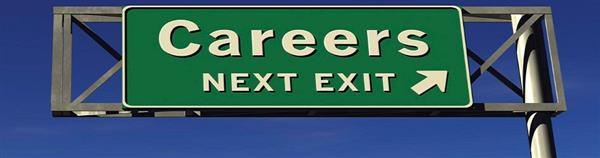 Careers next exit sign