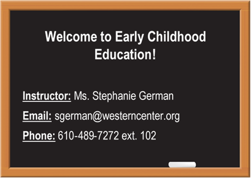 Early Childhood Education Welcome