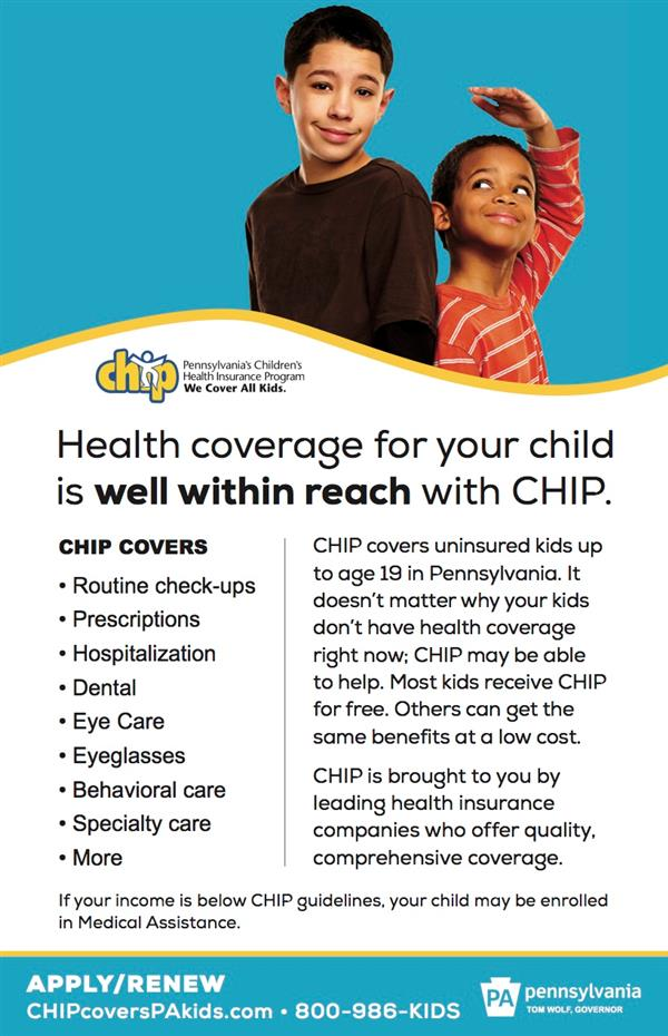 CHIP Covers Uninsured Kids and Teens up to Age 19